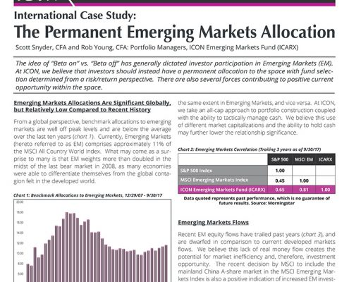 The Permanent Emerging Markets Allocation
